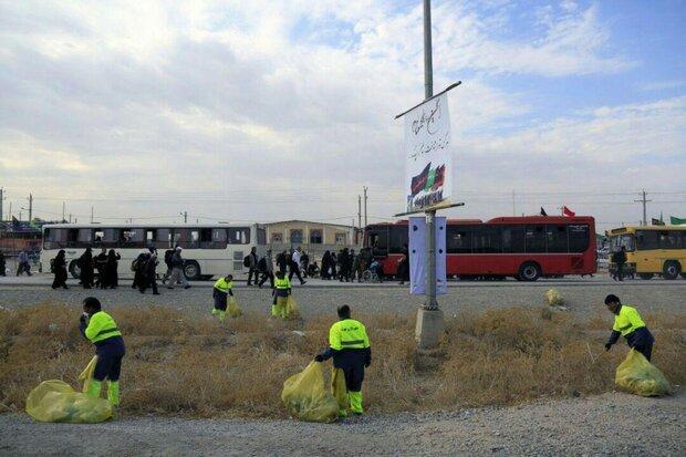 جمع آوری ۴۰۶ تن زباله در مرز مهران/۱۰۰نیروی خدمات شهری اضافه شدند